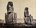 The Statues of the Plain, Thebes, Egypt; a man is standing Wellcome V0037814.jpg
