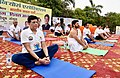 The Union Minister for Railways, Coal, Finance and Corporate Affairs, Shri Piyush Goyal performing Yoga, on the occasion of the 4th International Day of Yoga 2018, in Noida, Uttar Pradesh on June 21, 2018 (4).JPG