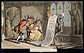 The dance of death; the genealogist. Coloured aquatint by T. Wellcome V0041992.jpg