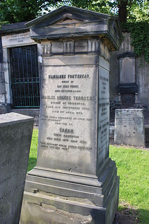 Charles Terrot - The grave of Charles Terrot, New Calton Cemetery