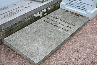 Old Tom Morris - The simple grave of Old Tom Morris, St Andrews Cathedral churchyard