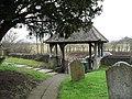 The lych gate at St Nicholas, Kingsley - geograph.org.uk - 1708953.jpg