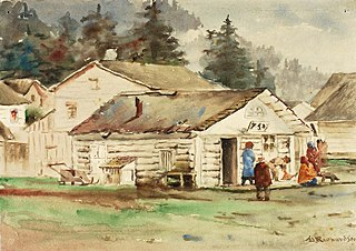 The Three Crows Market, Sitka, 1889