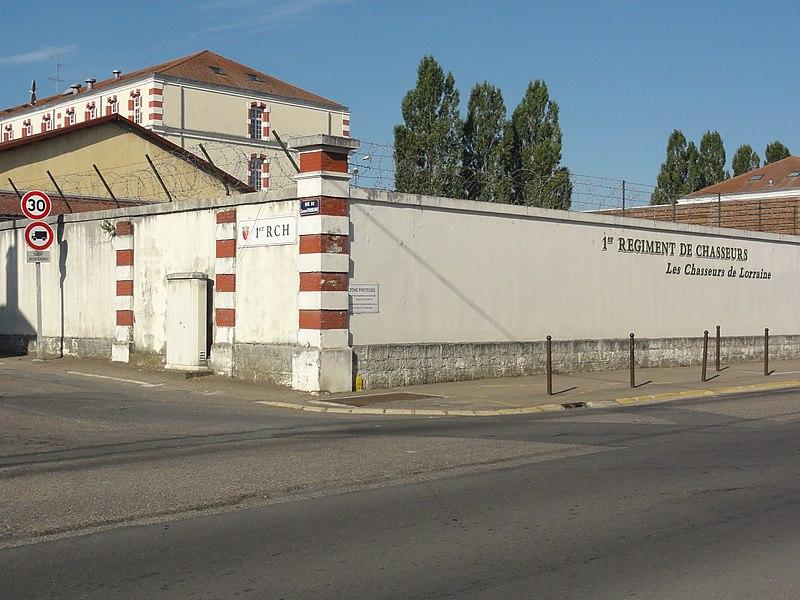 Thierville-sur-Meuse (Meuse) caserne 1er Régiment de Chasseurs