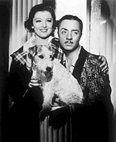 Loy, William Powell and Asta in The Thin Man (1934)