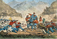 Third War of Independence - Garibaldi organising troops during the Battle of Bezzecca