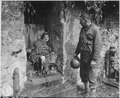 """This dead German soldier was one of the """"last stand"""" defenders of German-held Cherbourg. Captain Earl Topley, who led... - NARA - 531214.tif"""