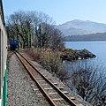Thomas Bach being repositioned at Penllyn, Llanberis Lake Railway (geograph 3968828).jpg