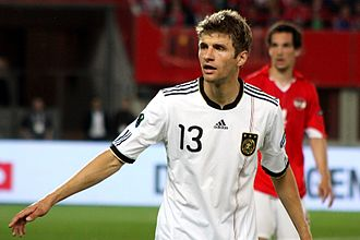 Thomas Müller - Müller in a UEFA Euro 2012 qualifying match against Austria.