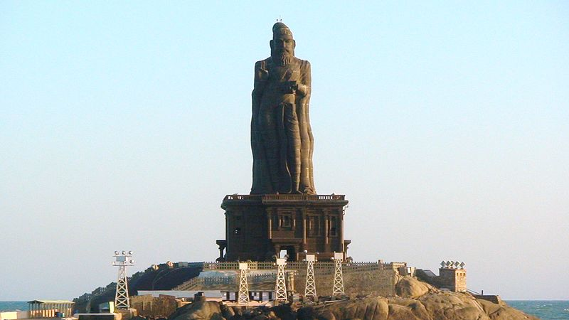 133 feet Thiruvalluvar statue in Kanyakumari