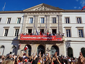 Élan Chalon - Celebration of the club's national championship in 2017