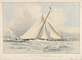 To the Members of the Royal Thames Yacht Club, this print of the Cutter Yacht Alarm (T. Wanhill Esqre.) winning the Silver Cup, June 25th 1840 (shows yacht Sabrina RMG PY8638.jpg