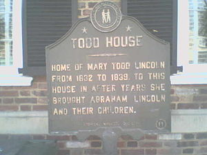 Mary Todd Lincoln House - Image: Todd House Lexington kentucky marker