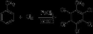 Hexachlorobutadiene - Image: Toluenechlorination