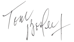 Tom Bosley - Image: Tom Bosley (autograph)