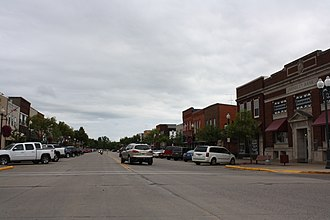 Tomahawk, Wisconsin - Looking east in downtown Tomahawk