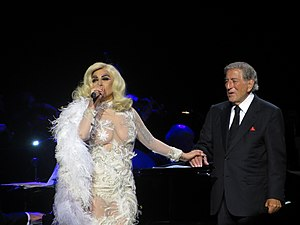"Cheek to Cheek (album) - Gaga and Bennett performing ""But Beautiful"" on the tour"