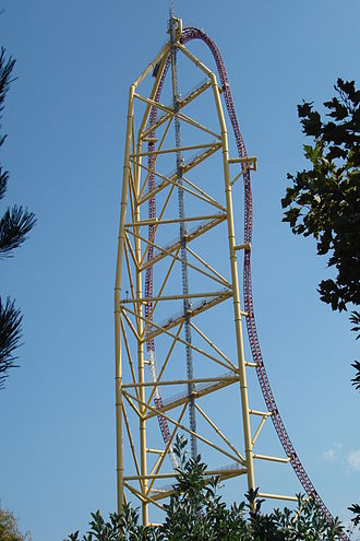 Top Thrill Dragster - Side view of Top Thrill Dragster