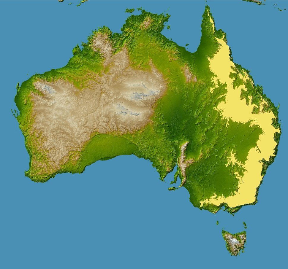 Topography of australia great dividing range