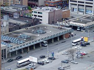 Bus terminus - Toronto Coach Terminal, a typical bus terminal in North America