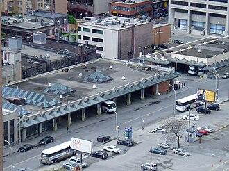 Bus terminus - Toronto Coach Terminal, a typical bus terminal in North America