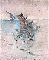 Toulouse-Lautrec - ESQUISSE ALLEGORIQUE, DAUPHIN, 1883, MTL.104.jpg