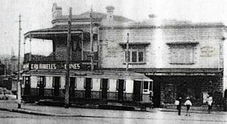 Erskineville, New South Wales - Tram at the Erskineville terminus