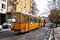 Tram in Sofia at Central market hall and Mineral bath 2012 PD 003.jpg