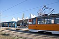 Tram in Sofia in front of Central Railway Station 2012 PD 054.jpg