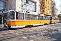 Tram in Sofia near Central mineral bath 2012 PD 045.jpg