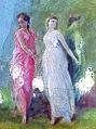 """Tre donne in giro, dalla destra rota, venian danzando. """"Dante Alighieri"""".jpg"""