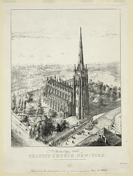 File:Trinity Church Bird's Eye View New York City 1846.jpg