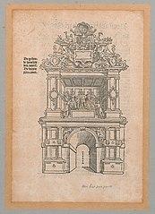 Triomfboog van de stad Antwerpen aan Sint-Janspoort