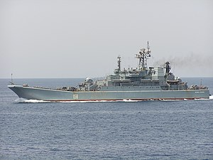 Russian ship Caesar Kunikov (BDK-64) - Caesar Kunikov in the Red Sea, 2003