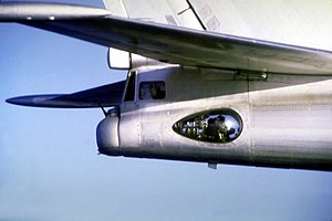 Air gunner - Tupolev Tu-95 tail gun position with 23 mm AM-23 autocannon