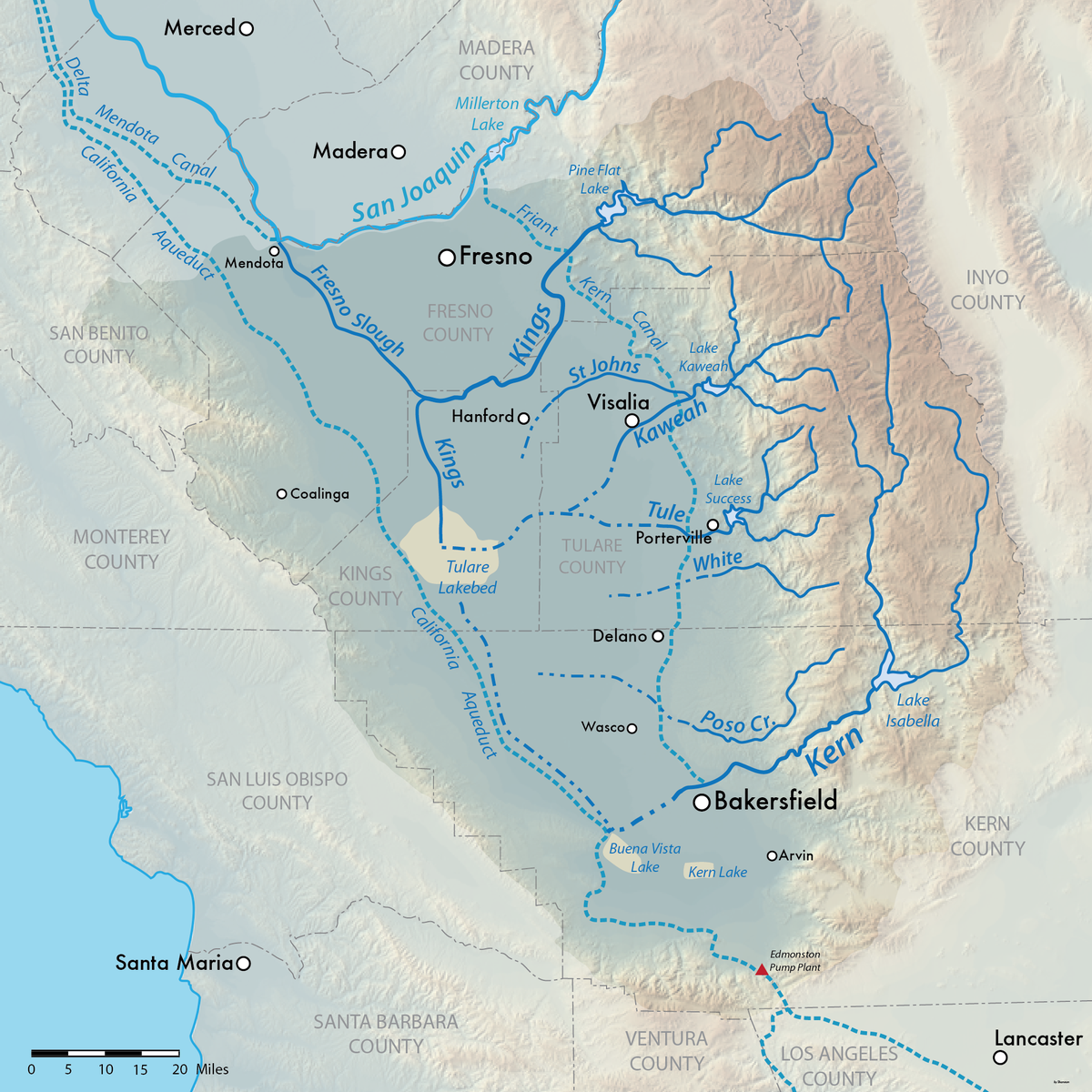 Tulare Lake Wikipedia - Lakes in california map