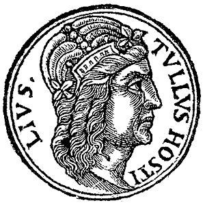 Tullus Hostilius - Tullus Hostilius, fictional 16th-century depiction published by Guillaume Rouillé
