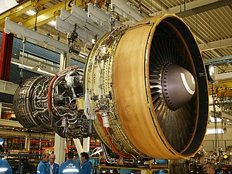 General Electric CF6 - CF6 turbofan at the KLM engine shop