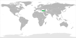 Map indicating locations of Turkey and Qatar