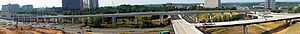 Silver Line (Washington Metro) - Image: Tysons Central 123 Metro Station Panorama 07 2012