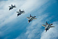 U.S. Air Force F-35A Lightning II aircraft assigned to the 58th Fighter Squadron, 33rd Fighter Wing fly in formation over the northwest coast of Florida May 16, 2013 130516-F-XL333-618.jpg