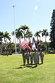 U.S. Army Col. William Florig, the commander of troops and director of civil military operations, U.S. Army Pacific (USARPAC), renders a salute during a Celebration of Service retirement ceremony in honor 140902-A-RV513-012.jpg
