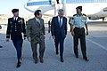U.S. Defense Secretary Chuck Hagel, second from right, walks with Jordanian Chairman of the Joint Chiefs of Staff Lt. Gen. Mashal Mohammad Al-Zaben, Stuart E. Jones, U.S. ambassador to Jordan, and U.S. Defense 140514-D-BW835-761.jpg