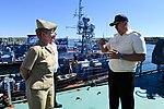 U.S. Naval Forces Europe-Africa Fleet Master Chief JoAnn Ortloff and Ukrainian Executive Officer Serhii Makeyev.jpg