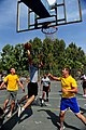 U.S. Soldiers with the 5th Battalion, 7th Air Defense Artillery Regiment and Israeli soldiers compete in a basketball game during a field competition as part of Austere Challenge 2012 in Hazor, Israel 121101-F-QW942-481.jpg