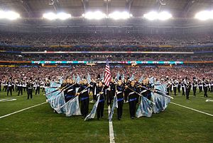 University of Connecticut Marching Band - Image: UCMB at Fiesta Bowl