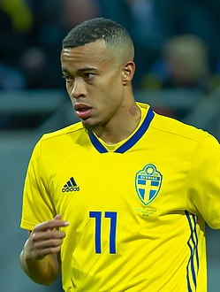 UEFA EURO qualifiers Sweden vs Romaina 20190323 Robin Quaison 50 (cropped).jpg