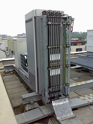 UMTS-transmitter on the roof of a building in ...
