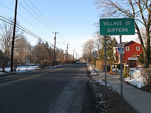 U.S. Route 202 in New York - US 202's first reassurance shield after entering New York in Suffern.