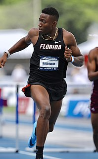 Grant Holloway American track and field athlete
